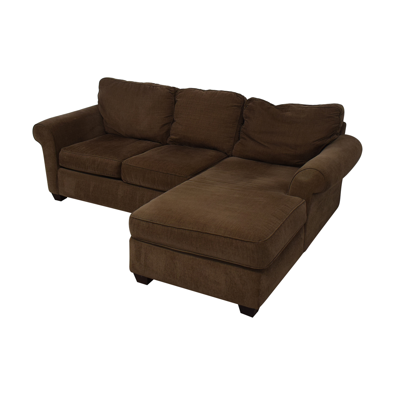 shop Bauhaus Furniture Brown Sofa With Chaise Bauhaus Furniture Sofas