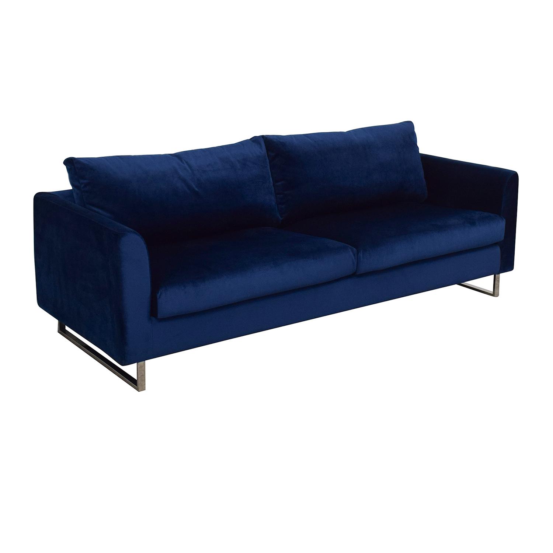 Interior Define Owens Blue Sofa coupon
