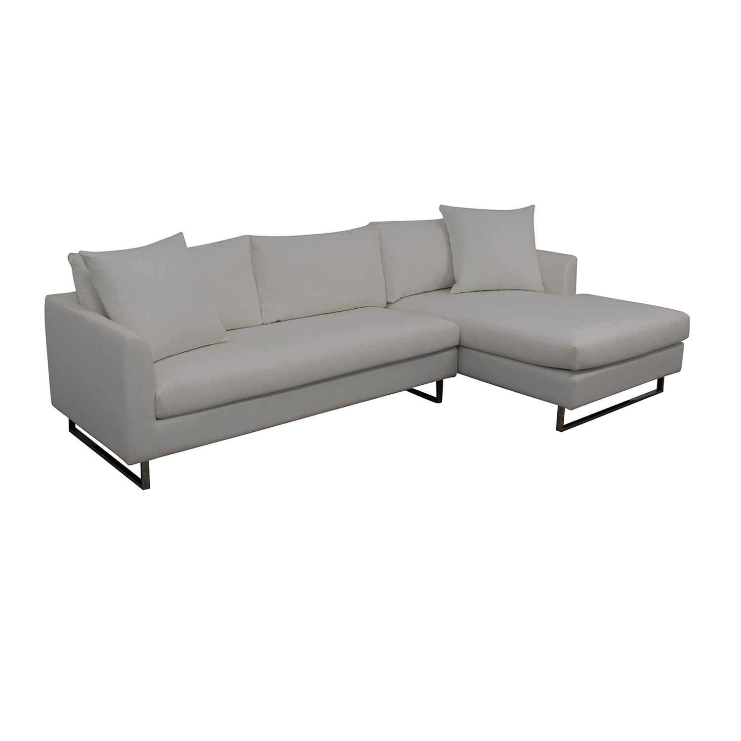 Interior Define Owens Right Chaise Sectional white