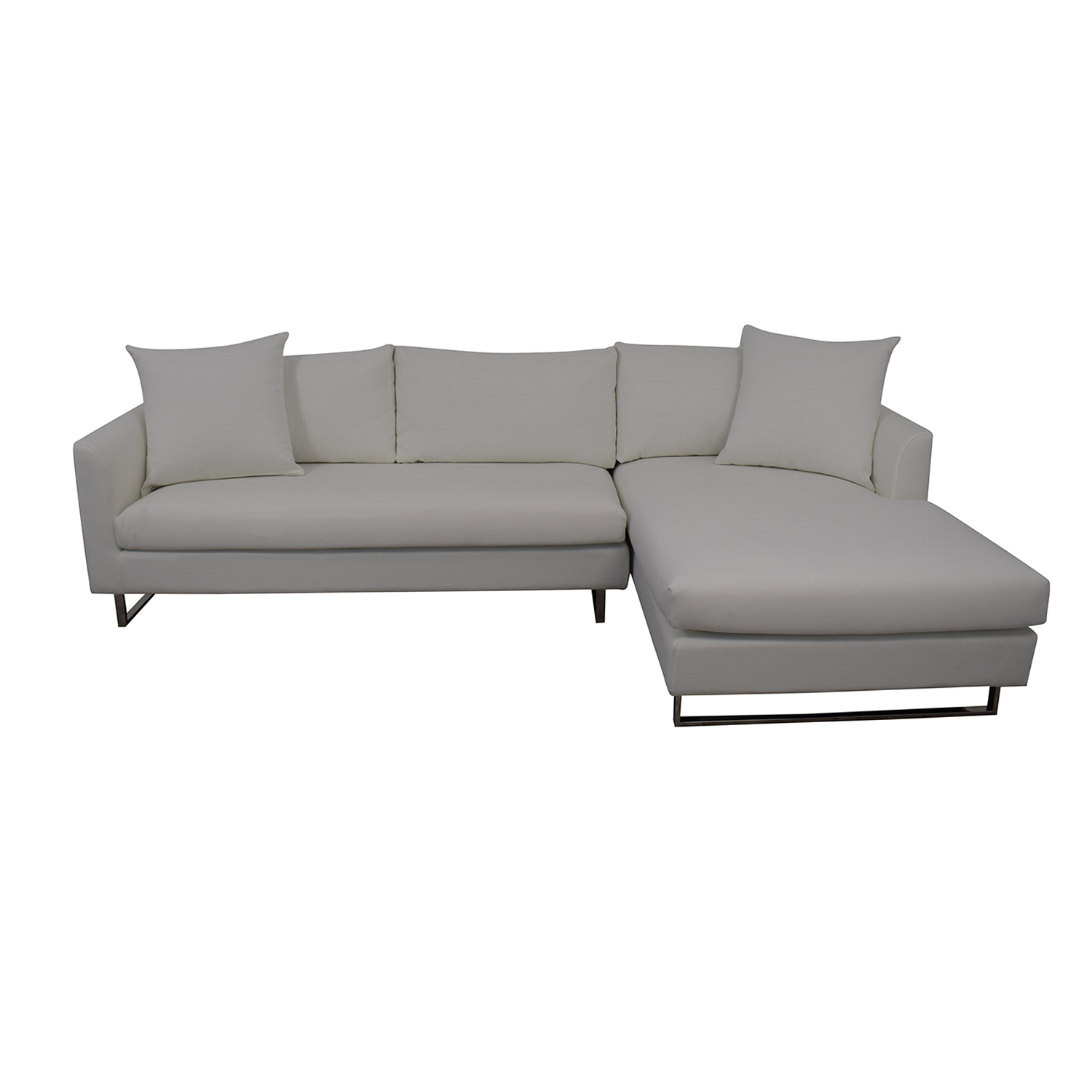 Interior Define Owens Right Chaise Sectional dimensions