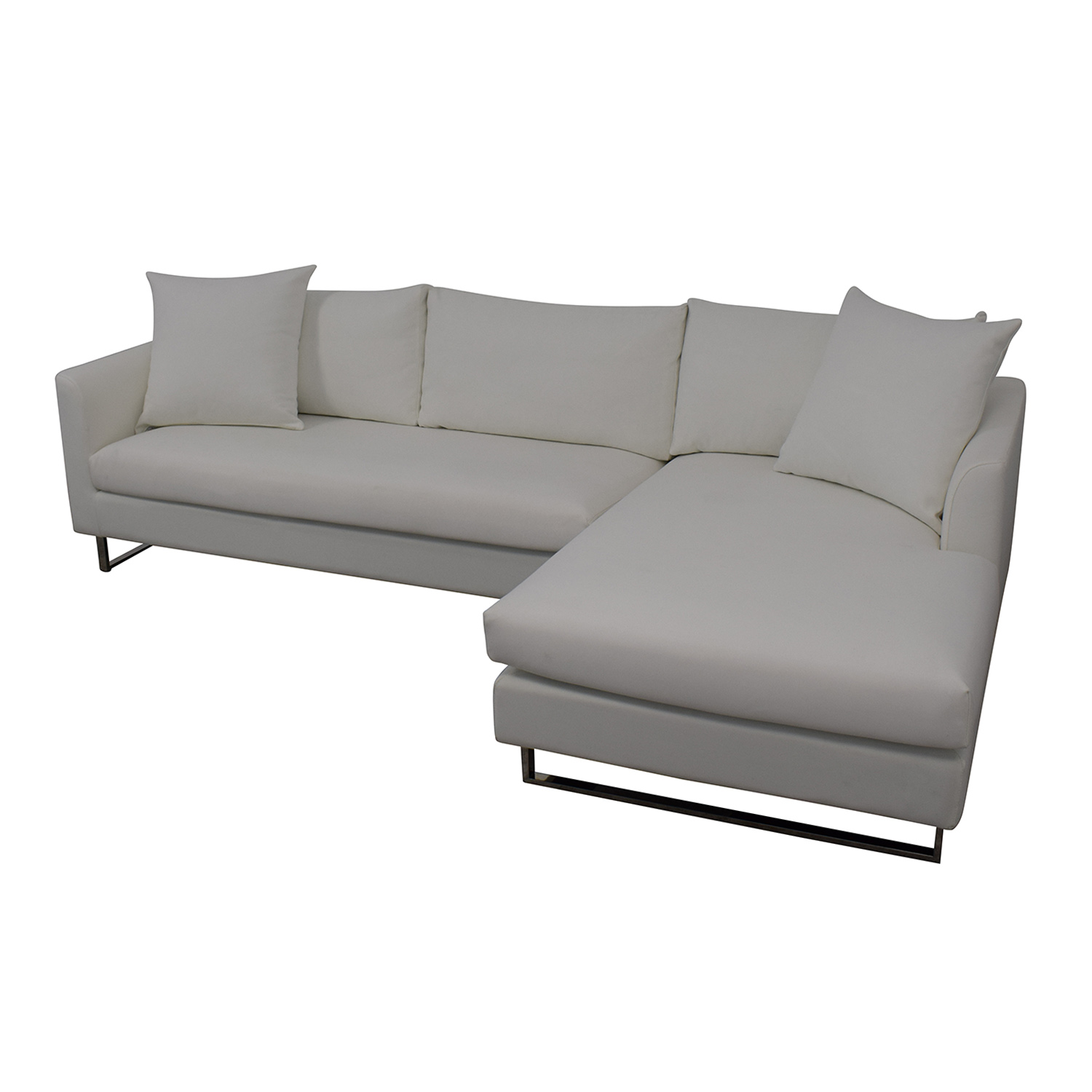 shop Owens Right Chaise Sectional Interior Define Sectionals