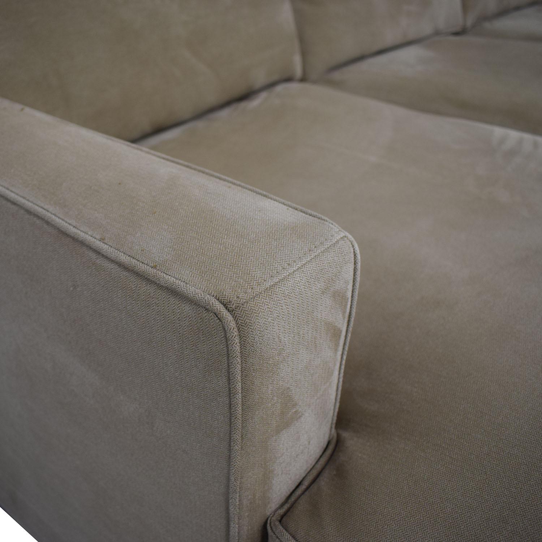 Crate & Barrel Crate & Barrel Left Chaise Sofa Sectionals