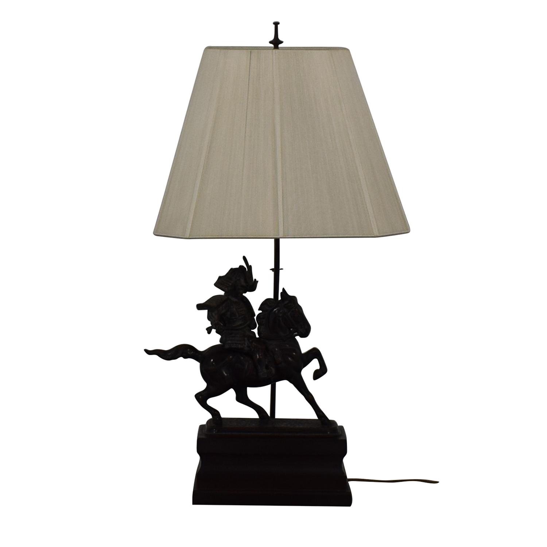 Samarai Warrior Decorative Table Lamp Bronze