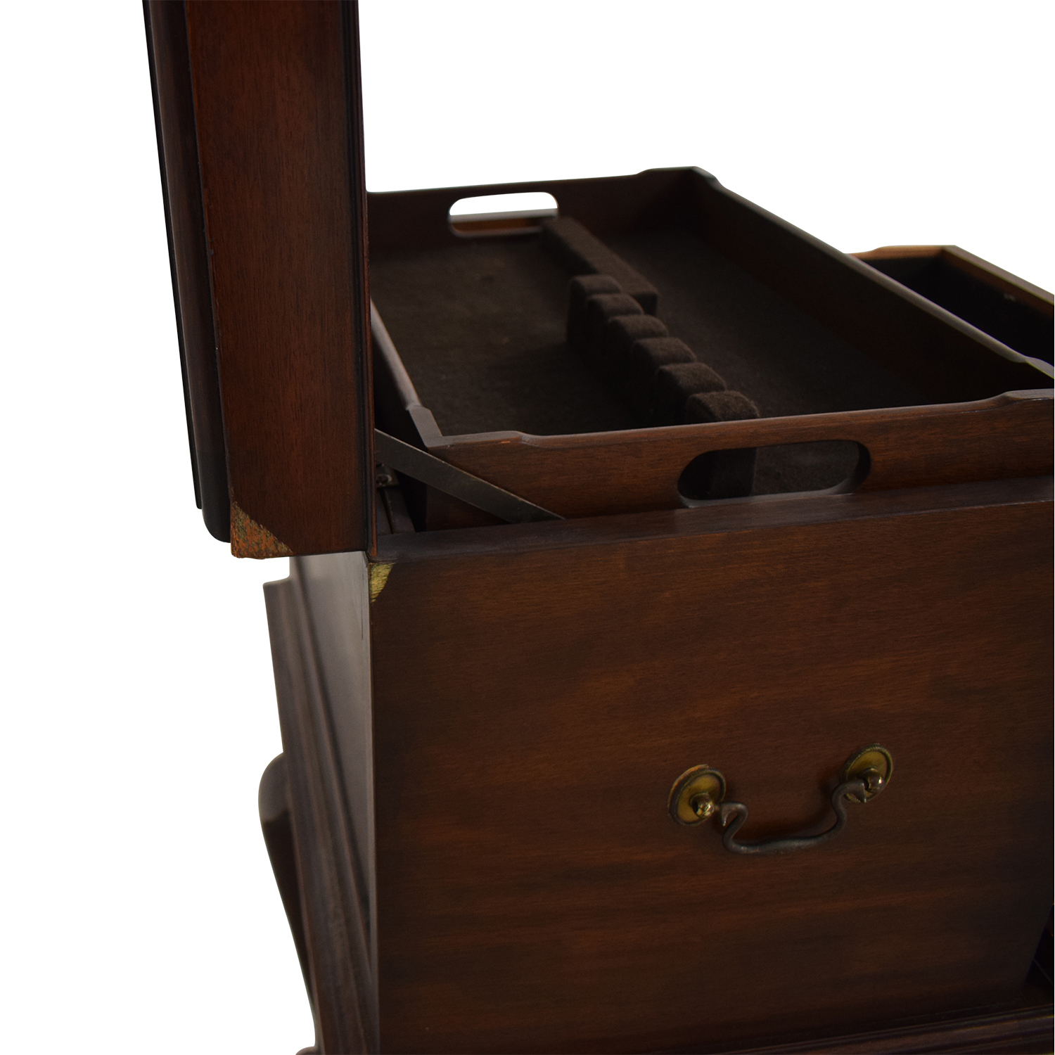 buy Henkel Harris Mahogany Silver Chest on Stand Henkel Harris Accent Tables