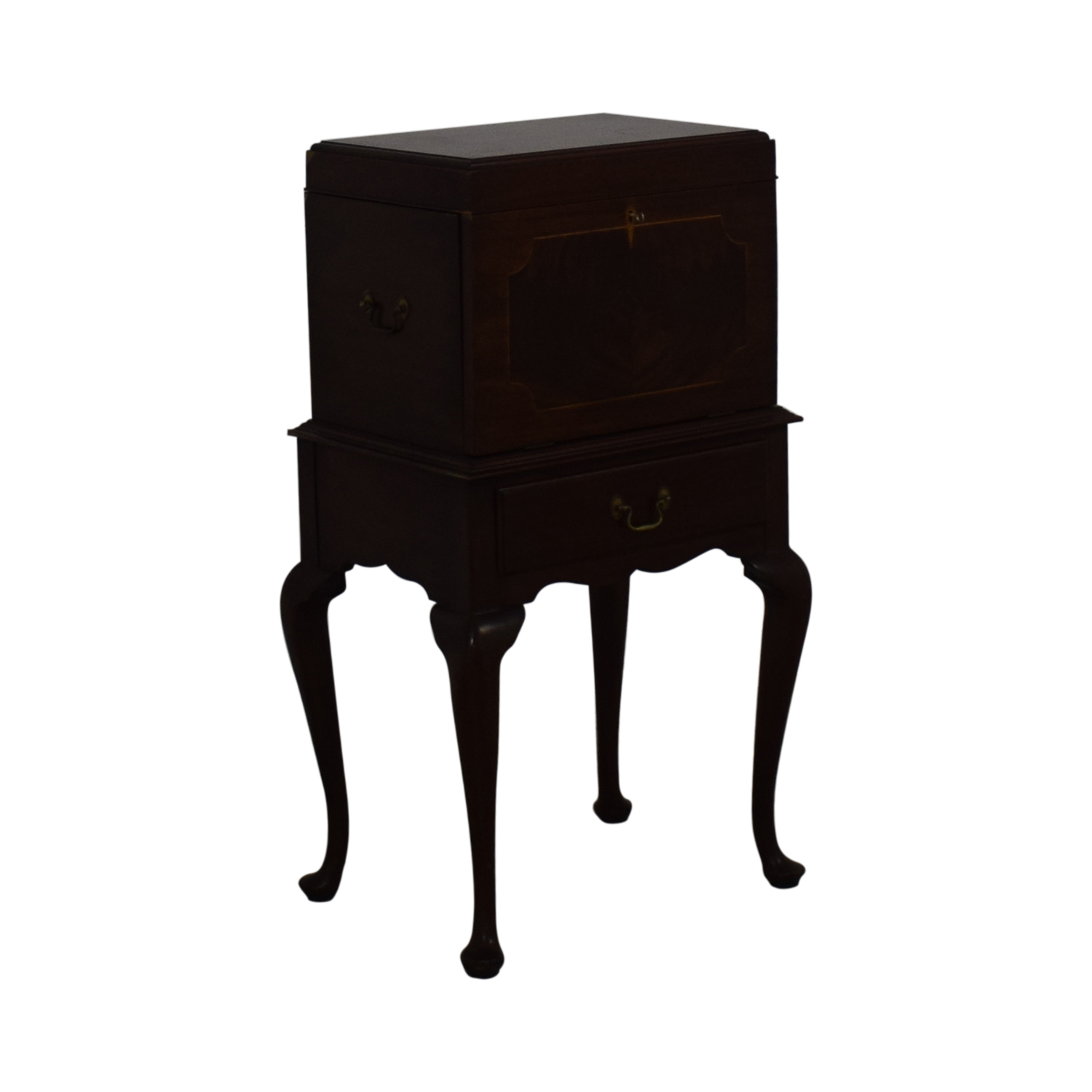 Henkel Harris Mahogany Silver Chest on Stand / Accent Tables