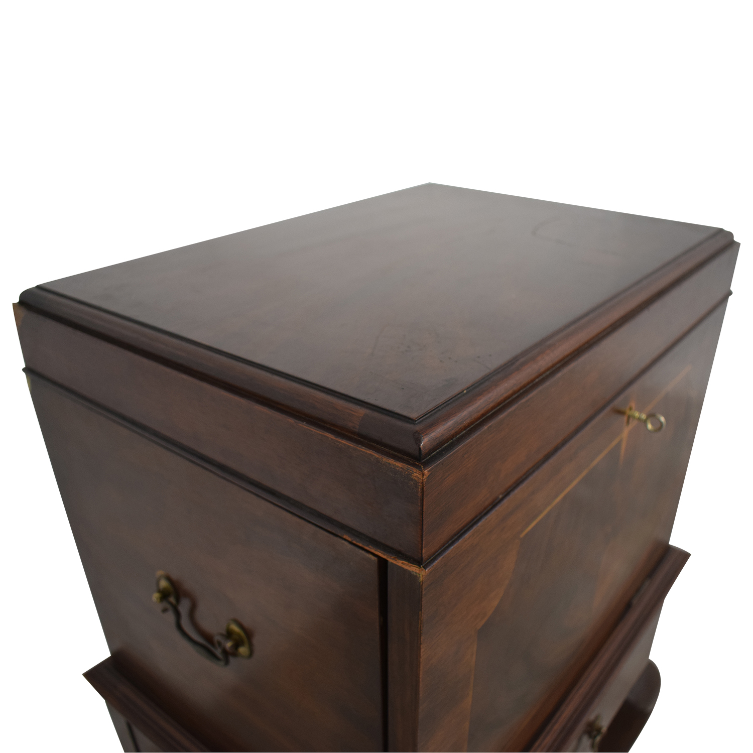 Henkel Harris Henkel Harris Mahogany Silver Chest on Stand nj