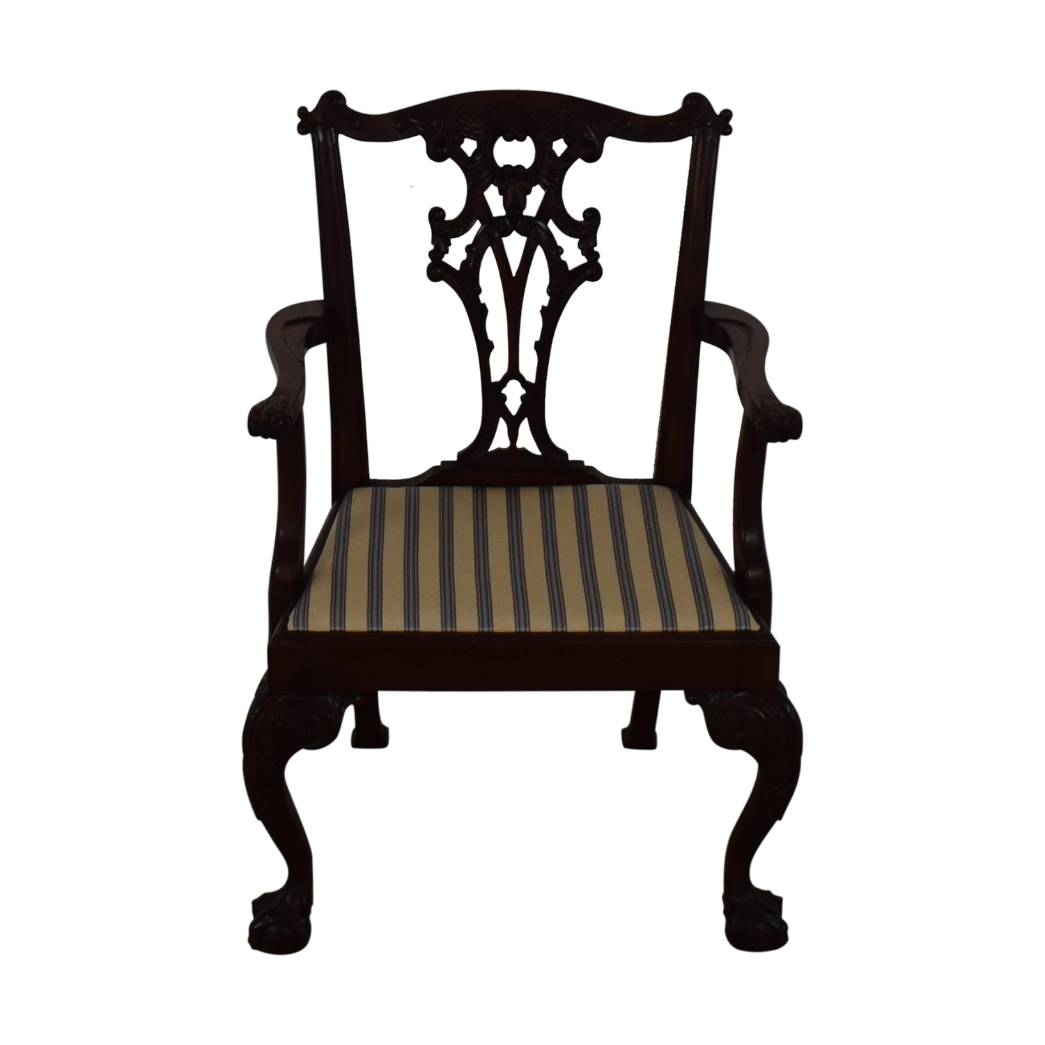 Century Furniture Century Furniture Chippendale Chair striped