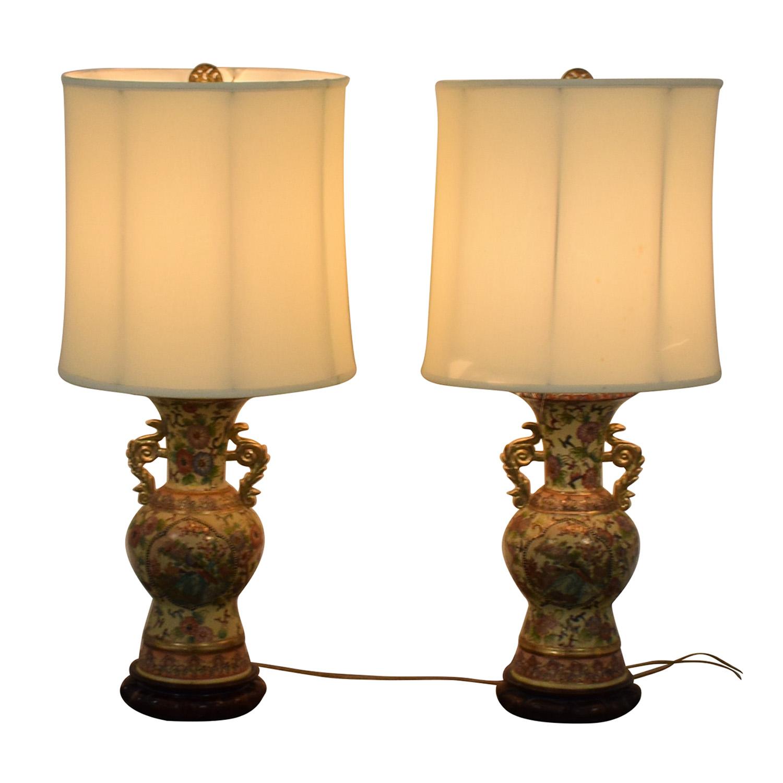 shop Vintage Celadon Oriental Table Lamps  Lamps