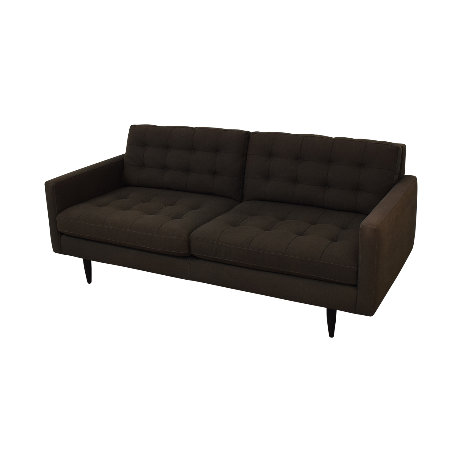 Crate & Barrel Crate & Barrel Petrie Midcentury Sofa dark gray