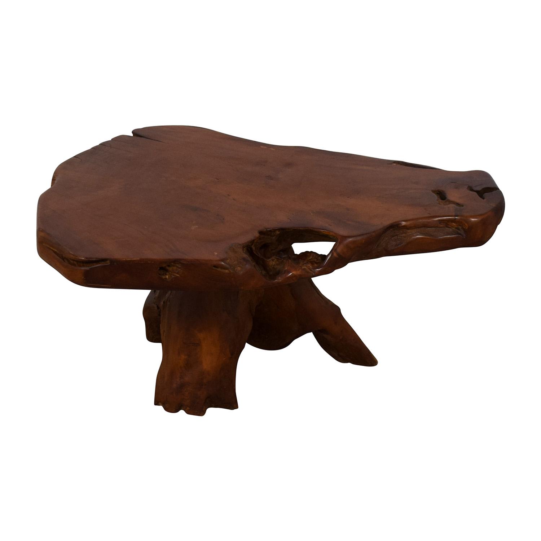 Wood Coffee Table brown