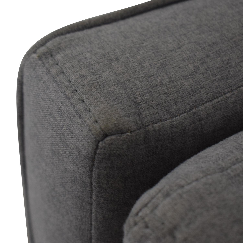 Macy's Macy's Modern Gray Sofa Classic Sofas
