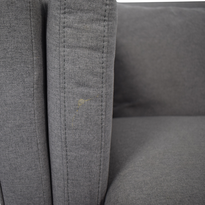 Macy's Macy's Modern Gray Sofa discount