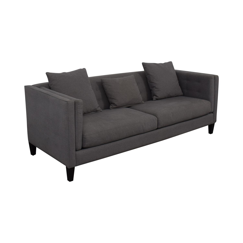 Macy's Macy's Modern Gray Sofa second hand