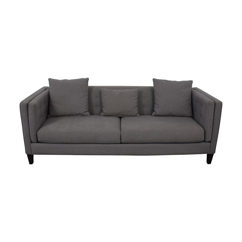 shop Macy's Macy's Modern Gray Sofa online
