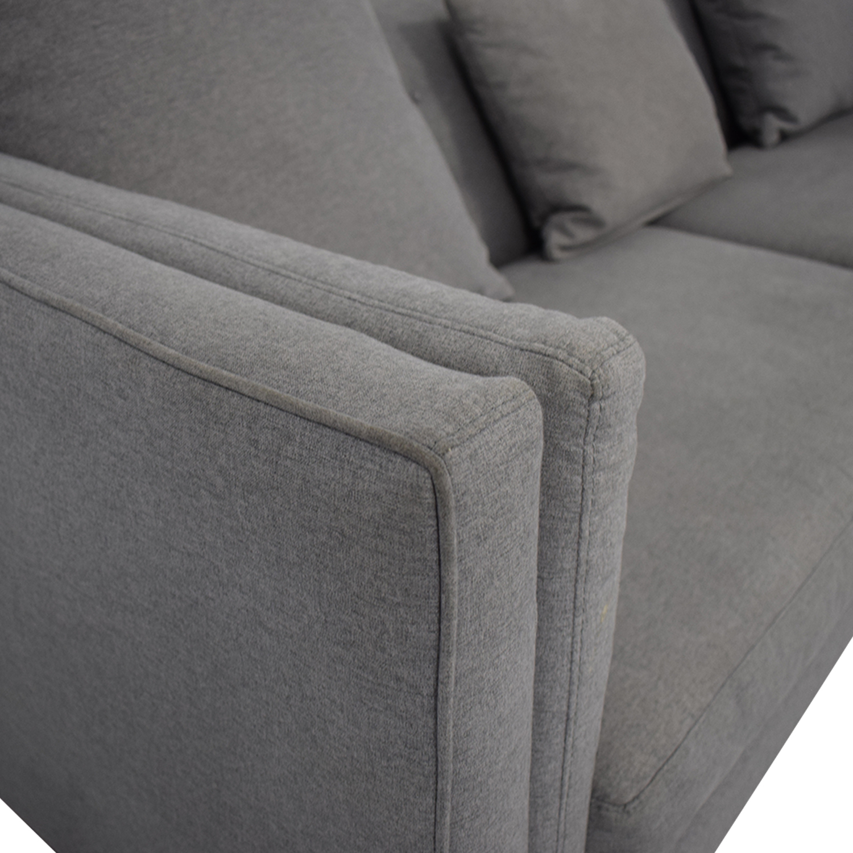 Macy's Macy's Modern Gray Sofa nyc