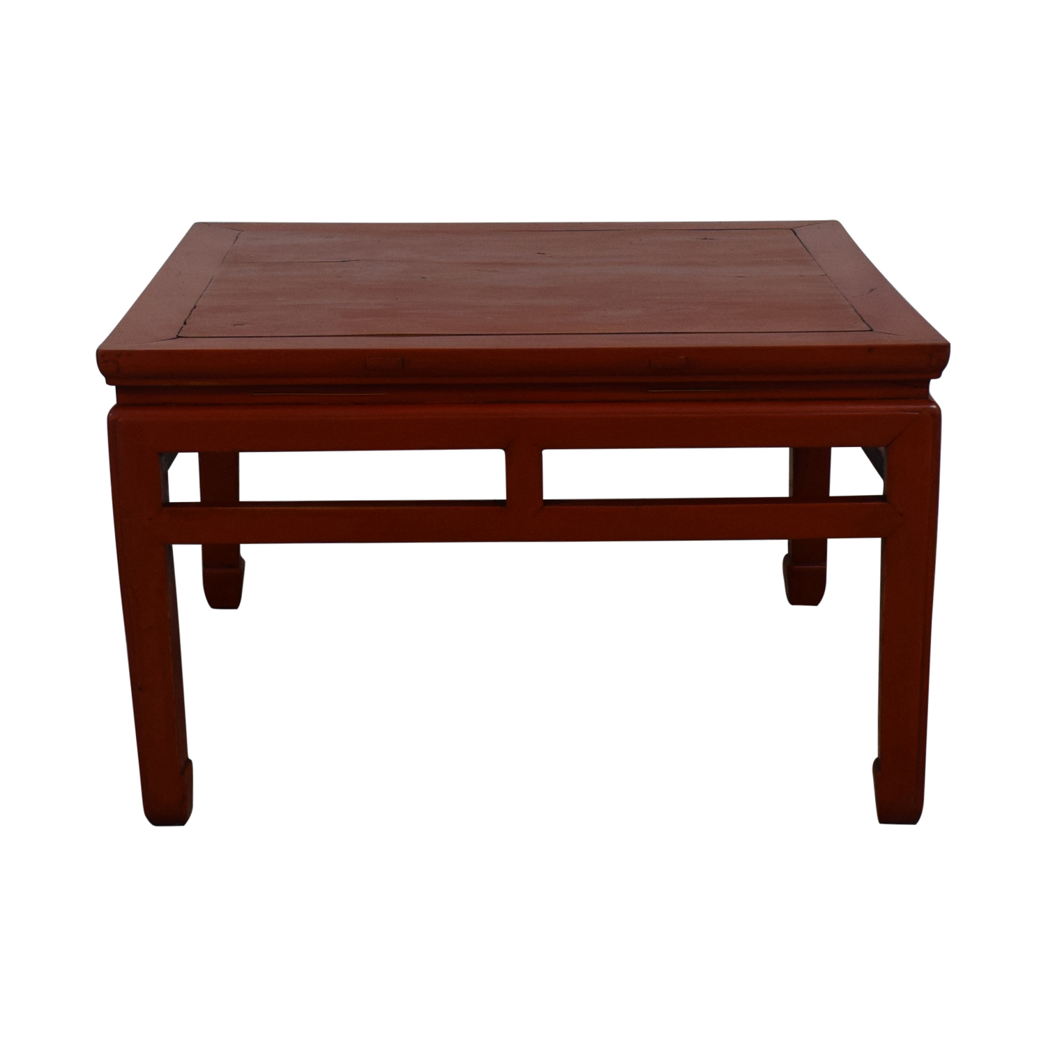 Rustic Red Coffee Table on sale