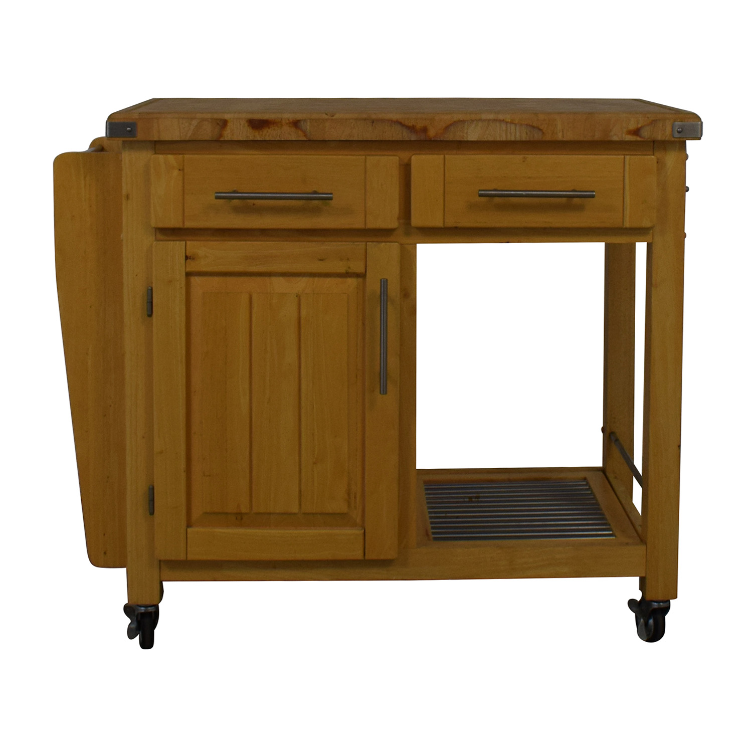 buy Modern Butcher Block Rolling Cart  Tables