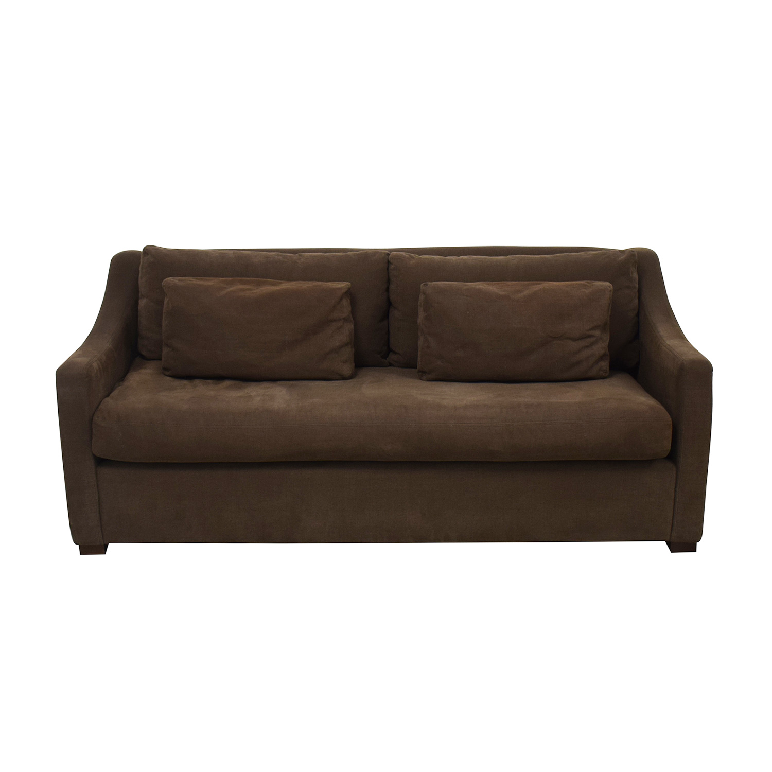 Restoration Hardware Restoration Hardware Belgian Slope Arm Sofa dark brown