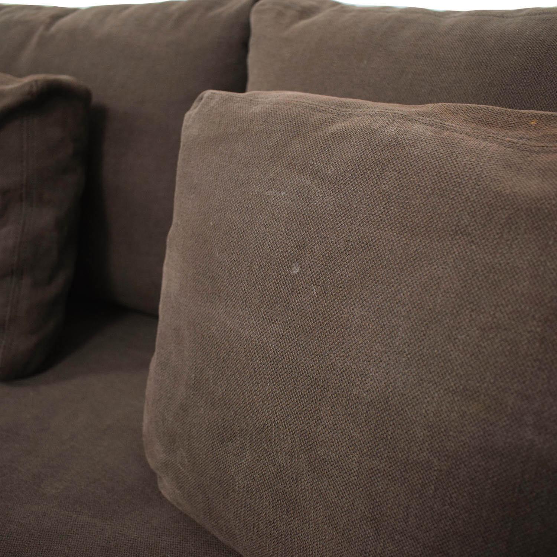 81 Off Restoration Hardware Belgian Slope Arm Sofa Sofas