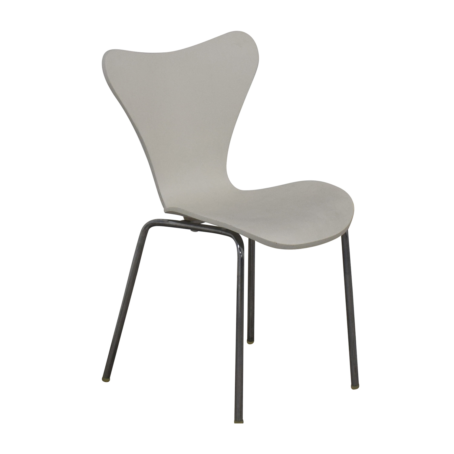 Restoration Hardware Restoration Hardware White and Metal Dining Chair
