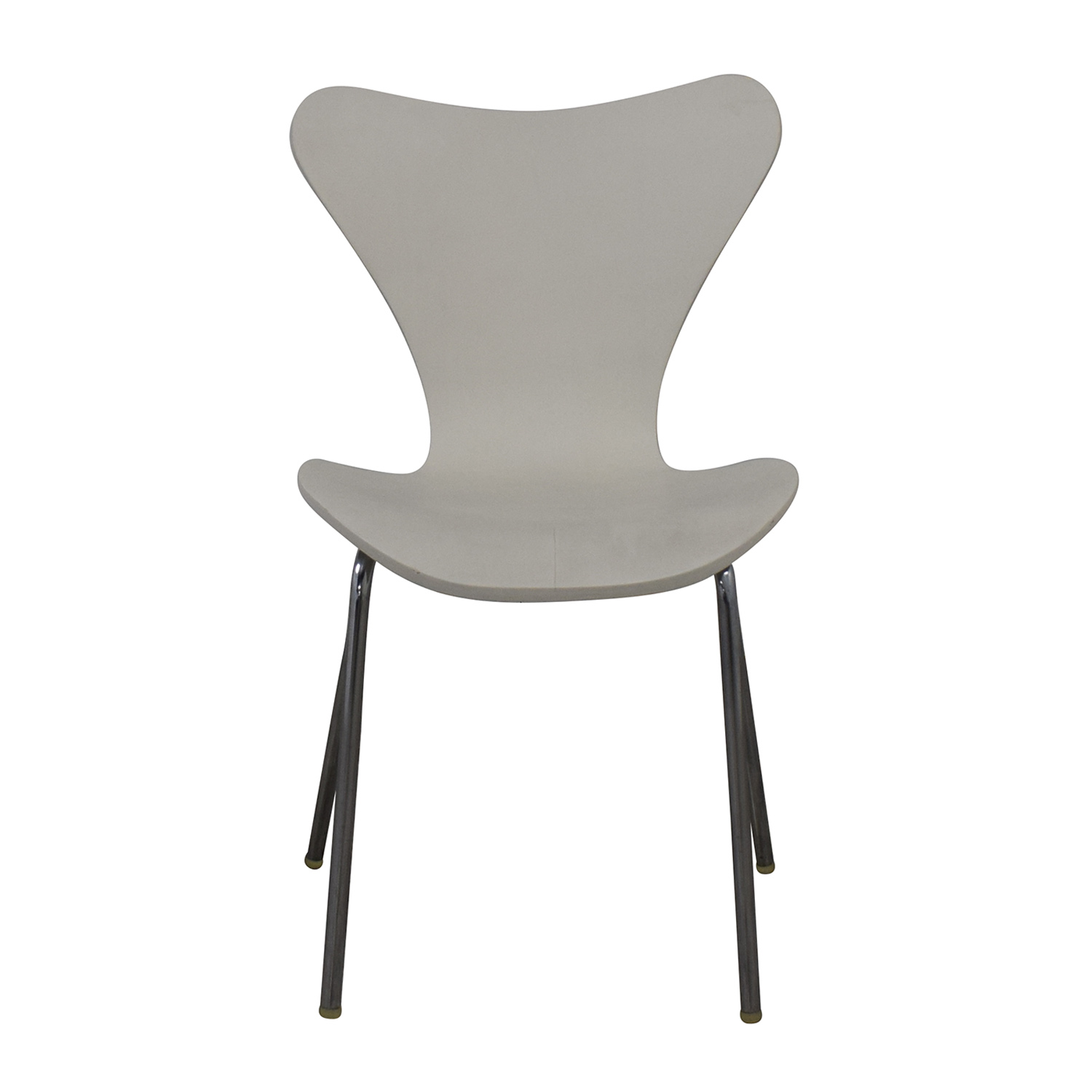 buy Restoration Hardware White and Metal Dining Chair Restoration Hardware Accent Chairs