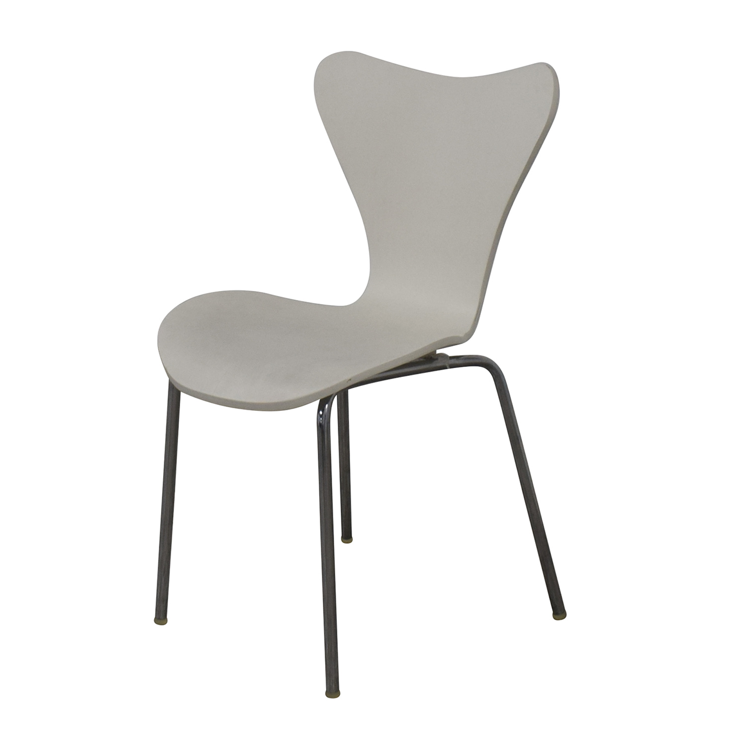 Restoration Hardware White and Metal Dining Chair / Accent Chairs