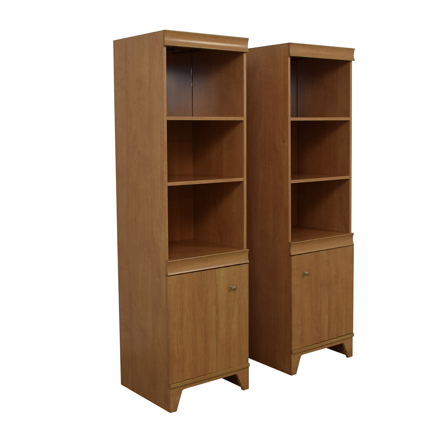 Italian Made Mirrored Bookcases