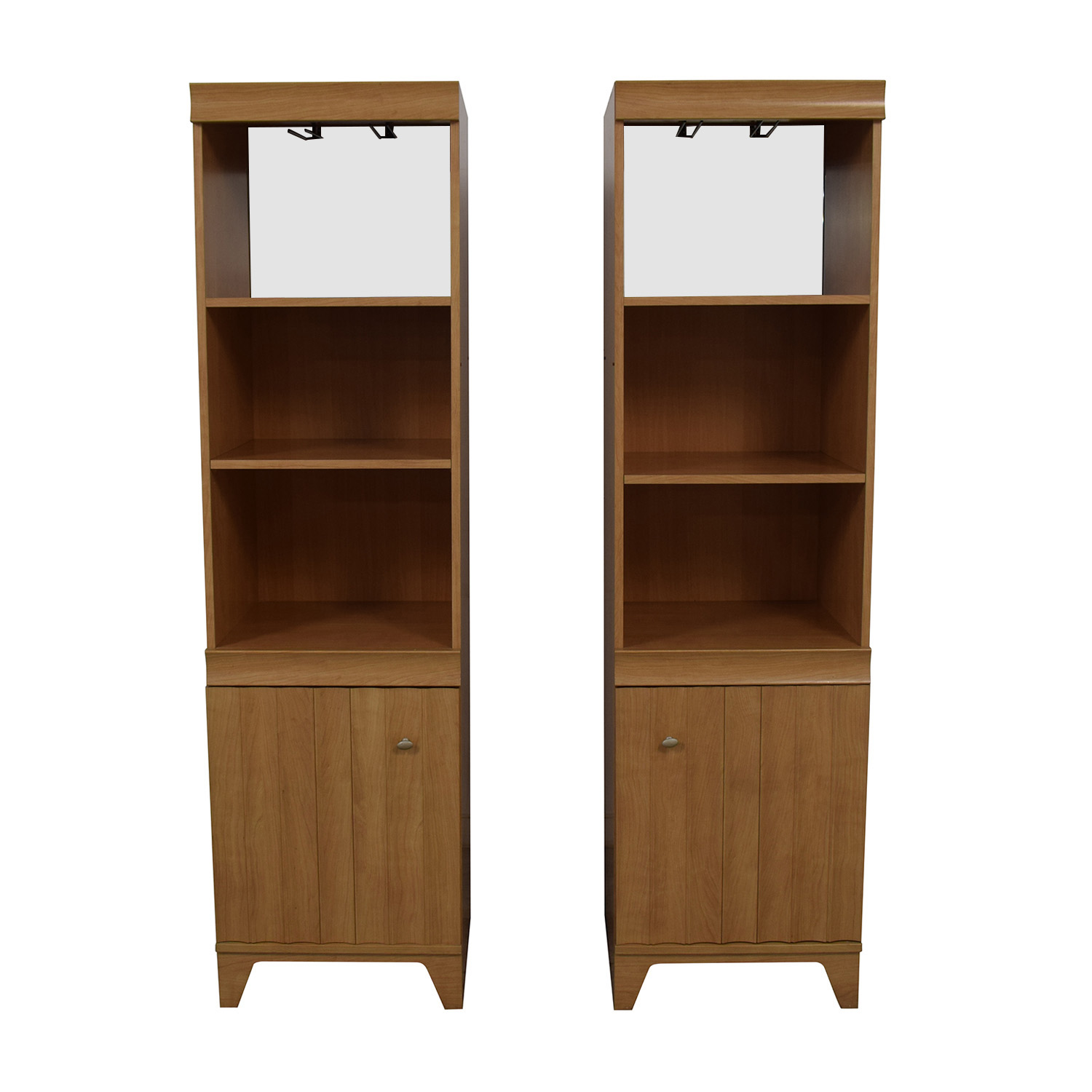 Italian Made Mirrored Bookcases / Storage