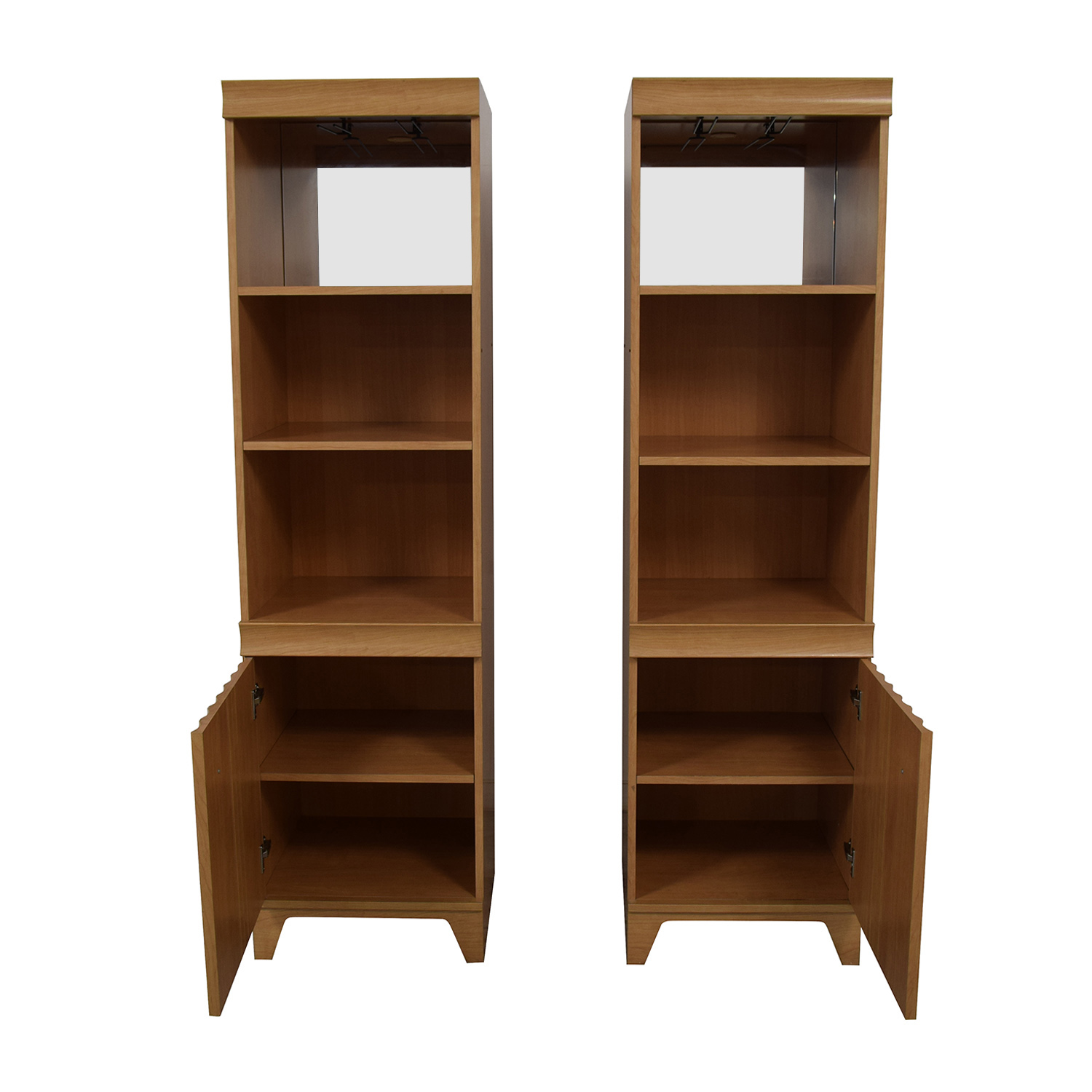 Italian Made Mirrored Bookcases Bookcases & Shelving