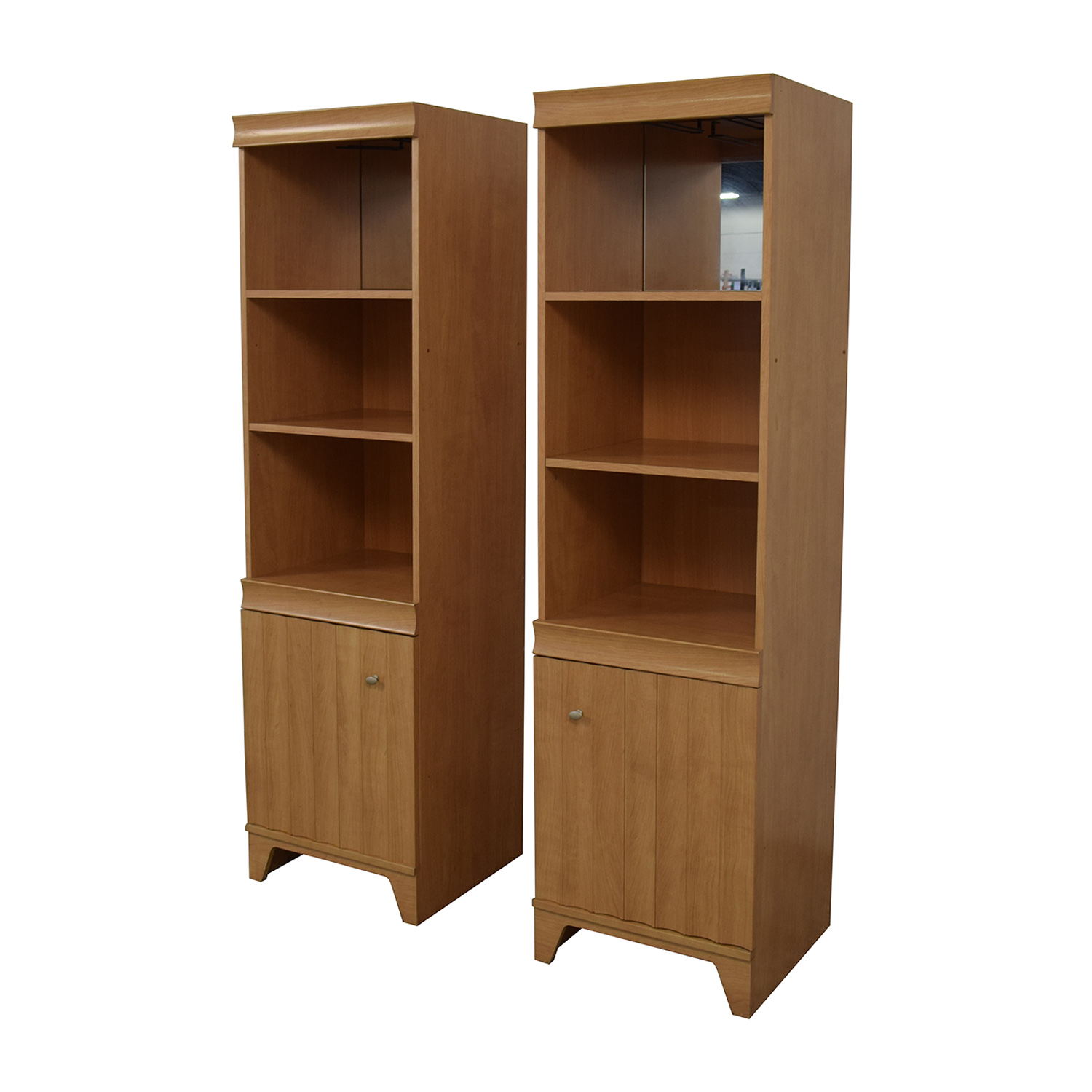 Italian Made Mirrored Bookcases Storage