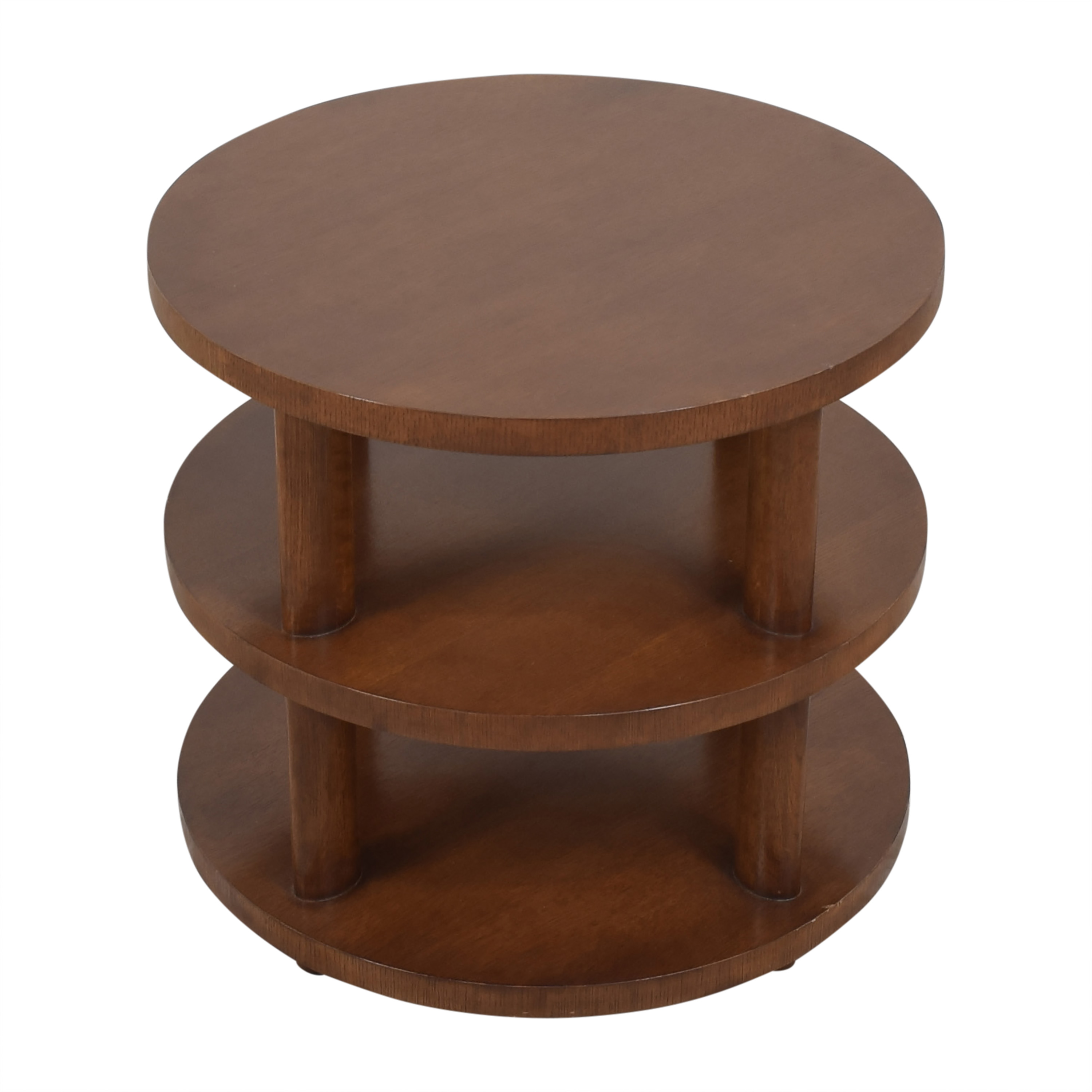 shop Baker Furniture Barbara Barry Round Tiered Occasional Table Baker Furniture Tables