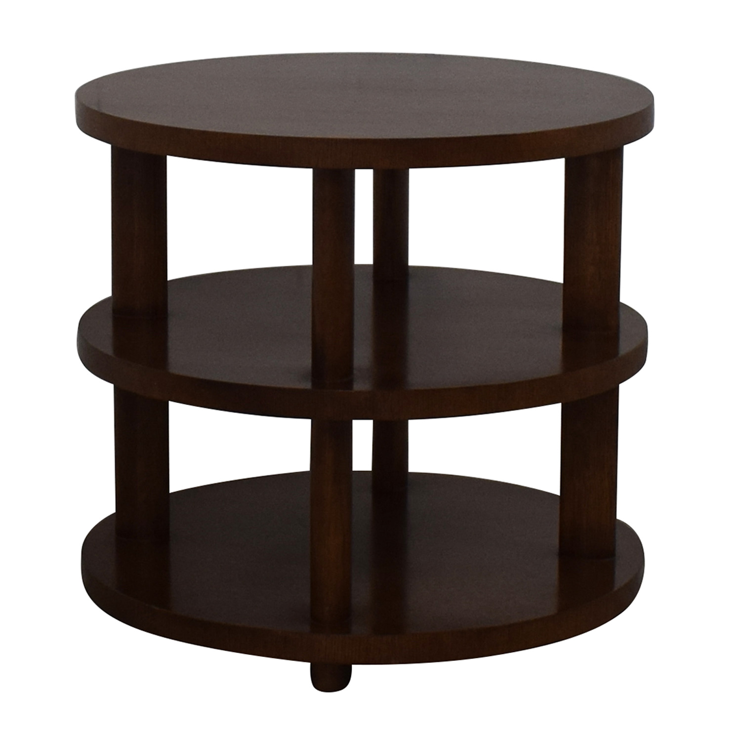 Baker Furniture Barbara Barry Round Tiered Occasional Table / Tables