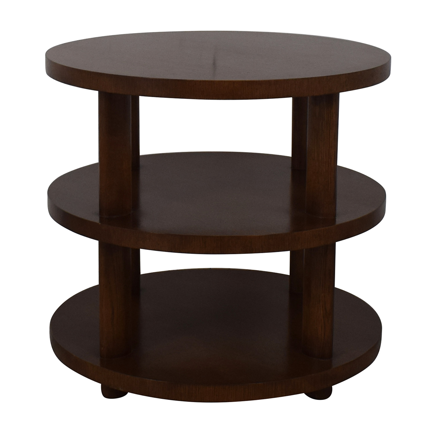Baker Furniture Barbara Barry Round Tiered Occasional Table / End Tables