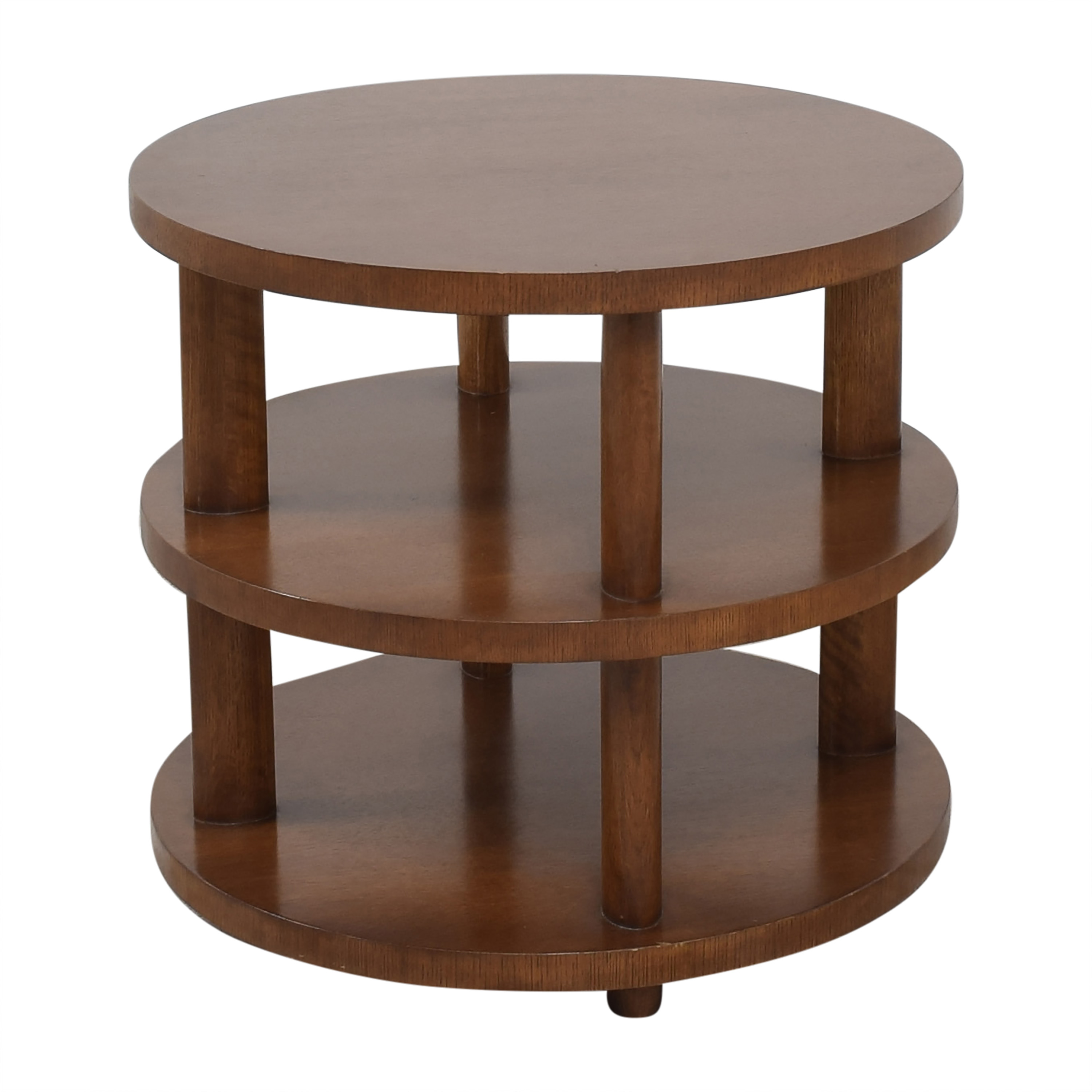 Baker Furniture Baker Furniture Barbara Barry Round Tiered Occasional Table brown