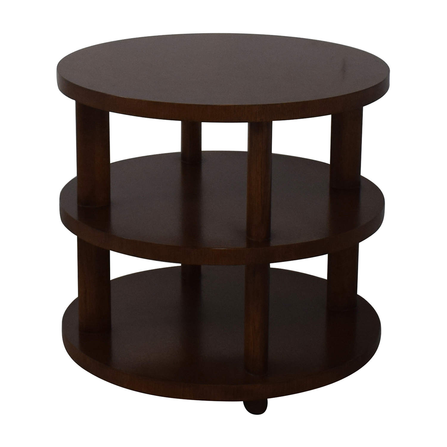 Baker Furniture Barbara Barry Round Tiered Occasional Table Brown