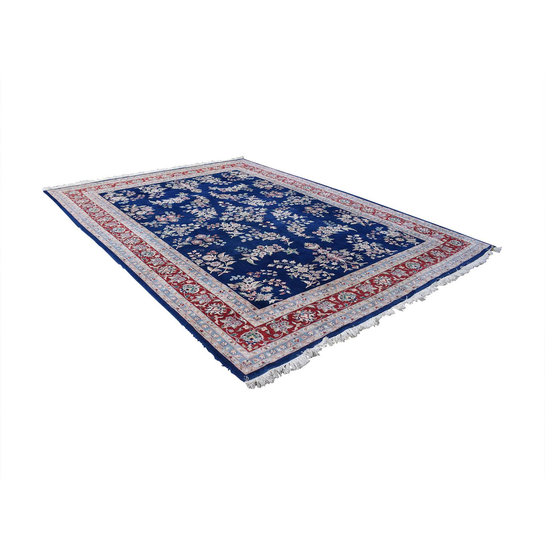 buy Royal Blue Decorative Oriental Rug  Rugs