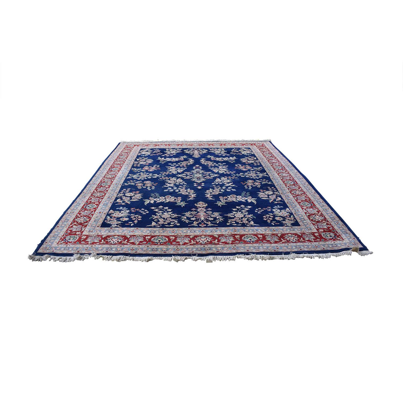 Royal Blue Decorative Oriental Rug dimensions