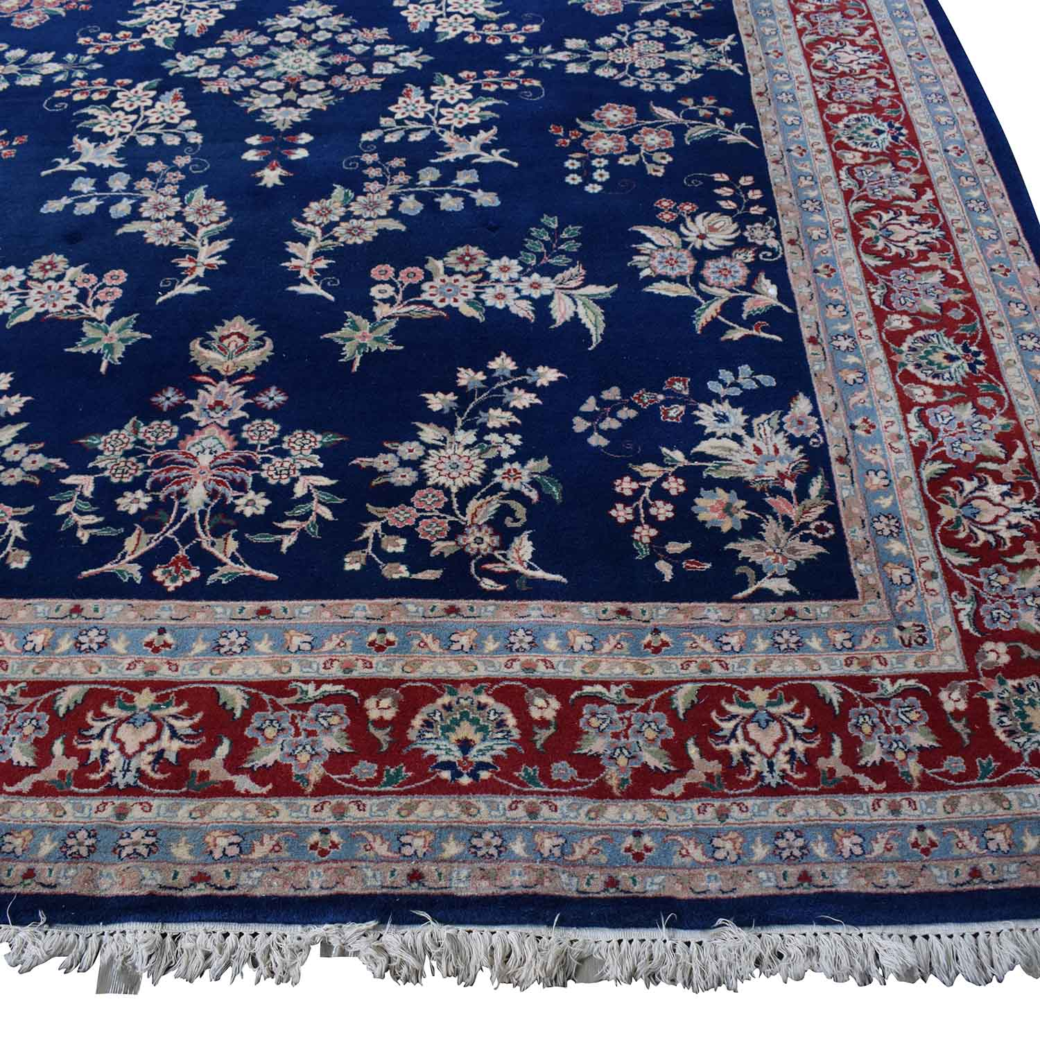 Royal Blue Decorative Oriental Rug discount