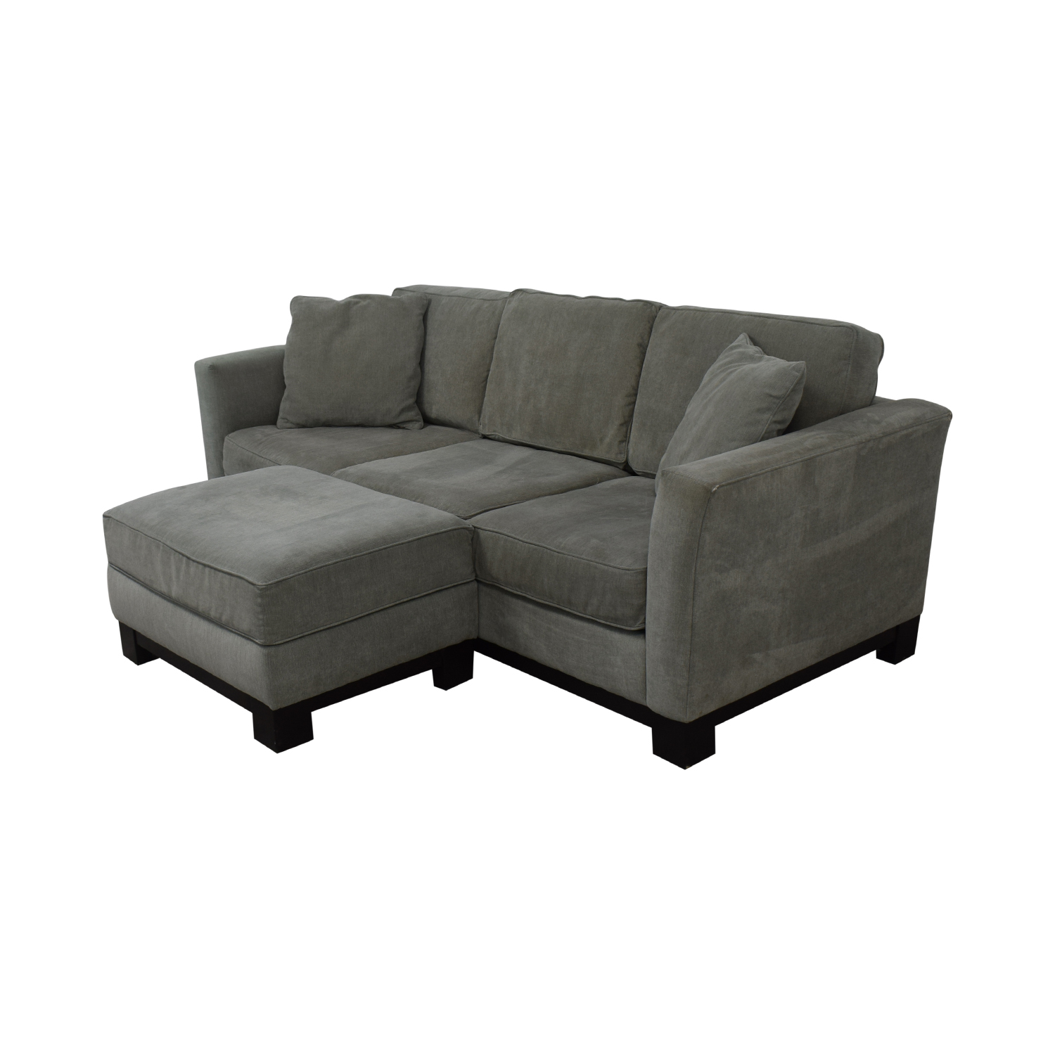 shop Macy's Modern Three Cushion Sofa And Ottoman Macy's