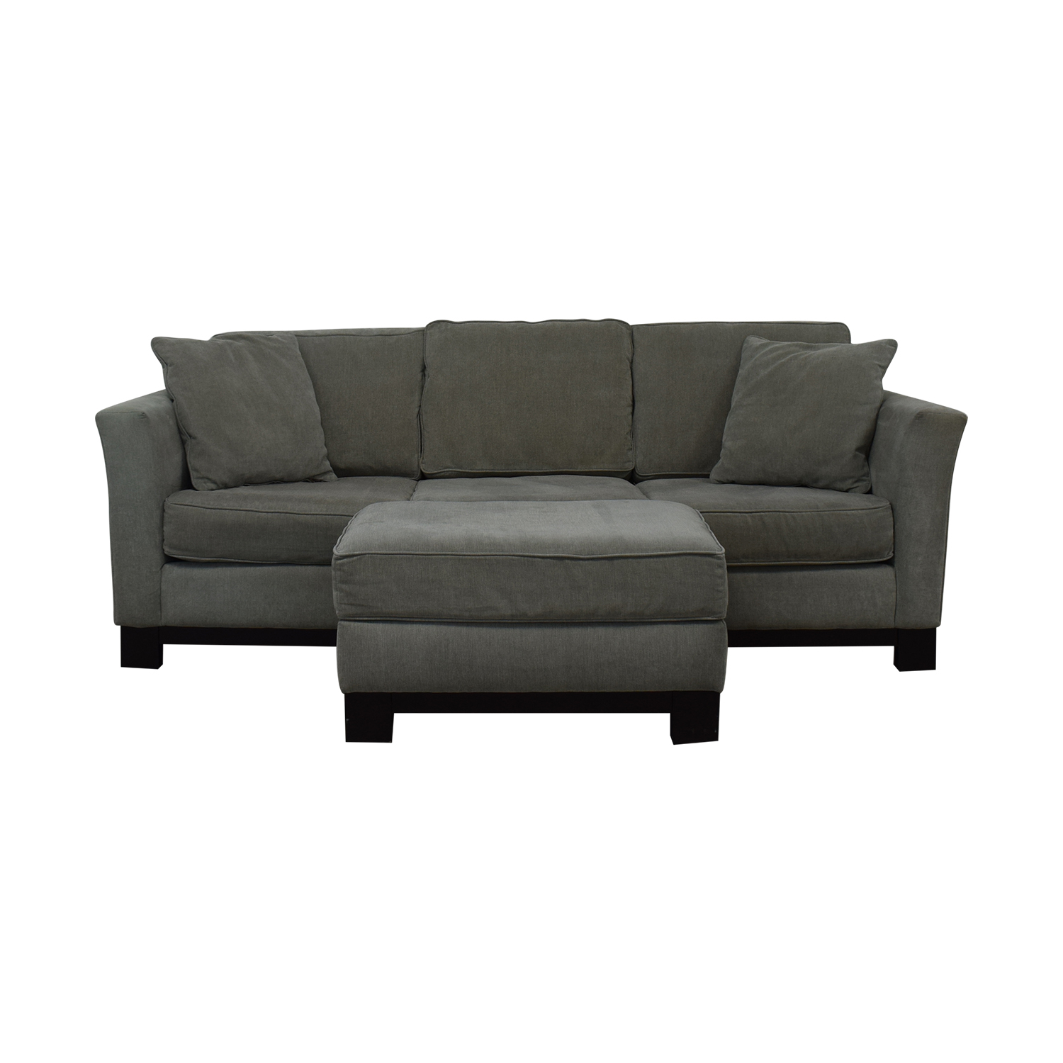 buy Macy's Modern Three Cushion Sofa And Ottoman Macy's