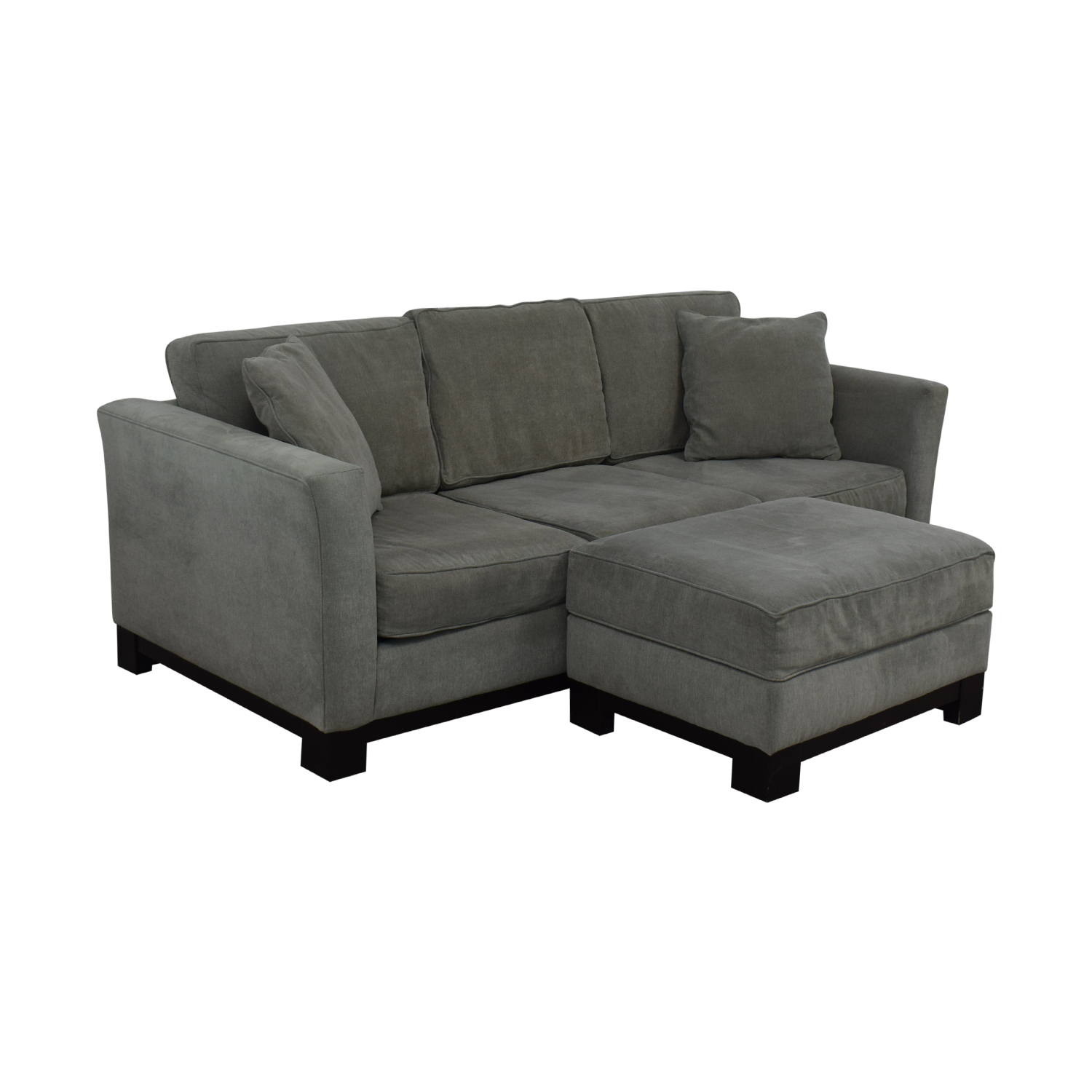 Macy's Macy's Modern Three Cushion Sofa And Ottoman on sale