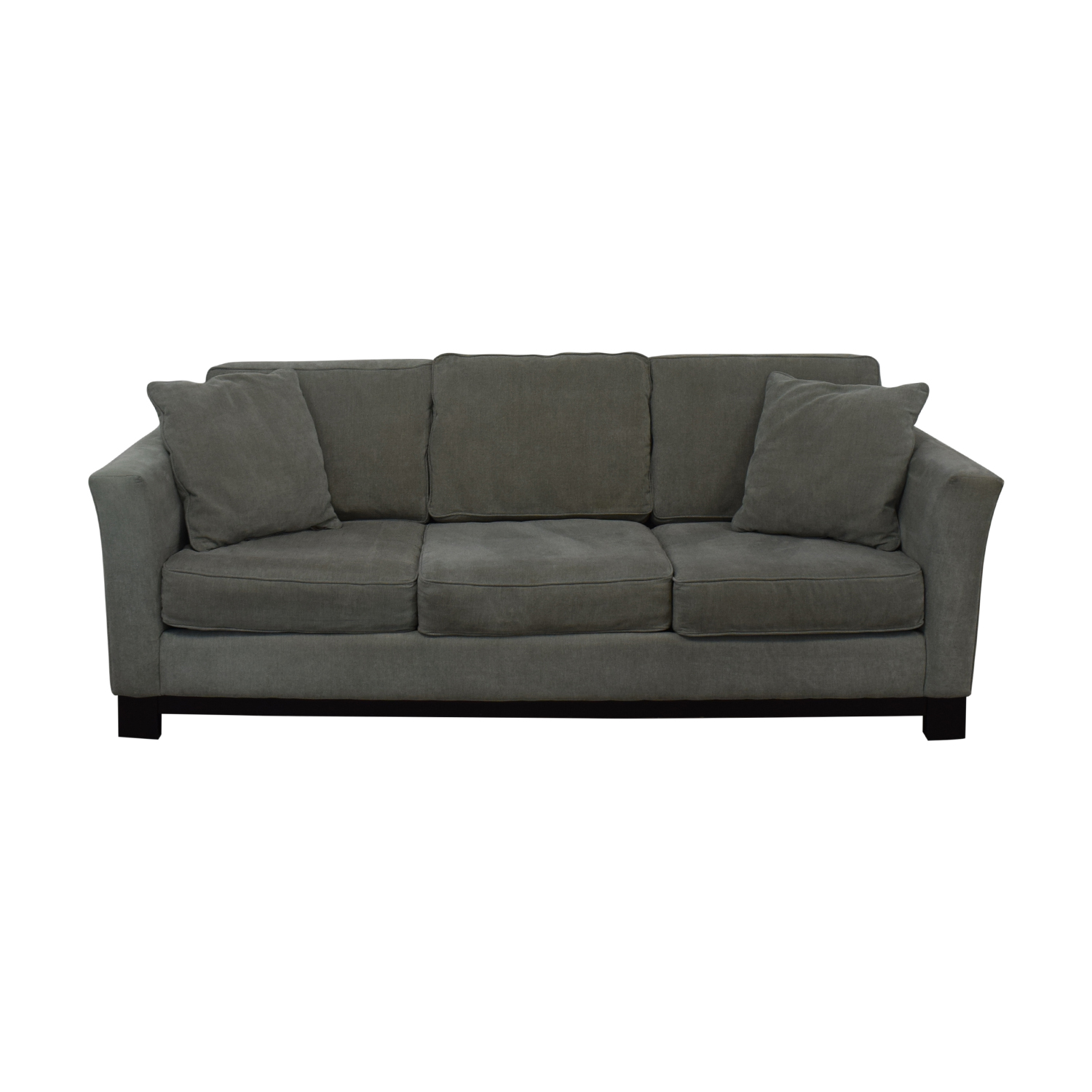 shop Macy's Modern Three Cushion Sofa And Ottoman Macy's Classic Sofas