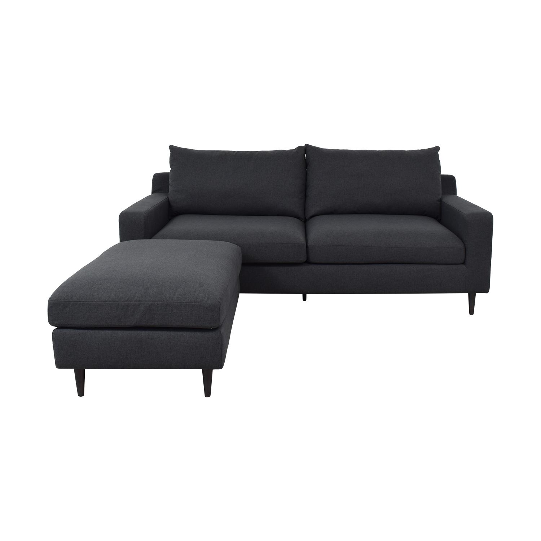shop Interior Define Sloan Sofa with Ottoman Interior Define Sofas