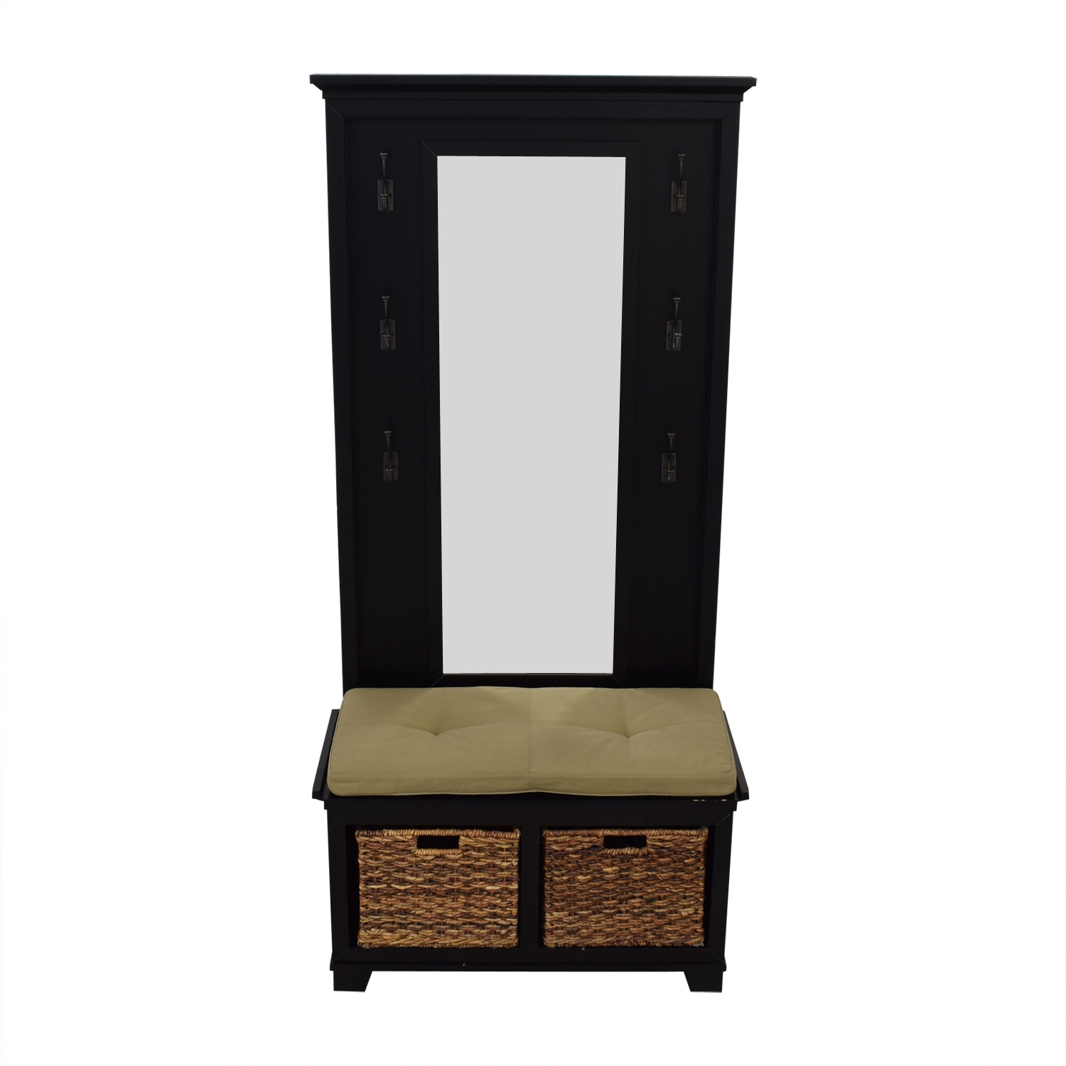 Crate & Barrel Crate & Barrel Windham Bench and Mirrored Panel price