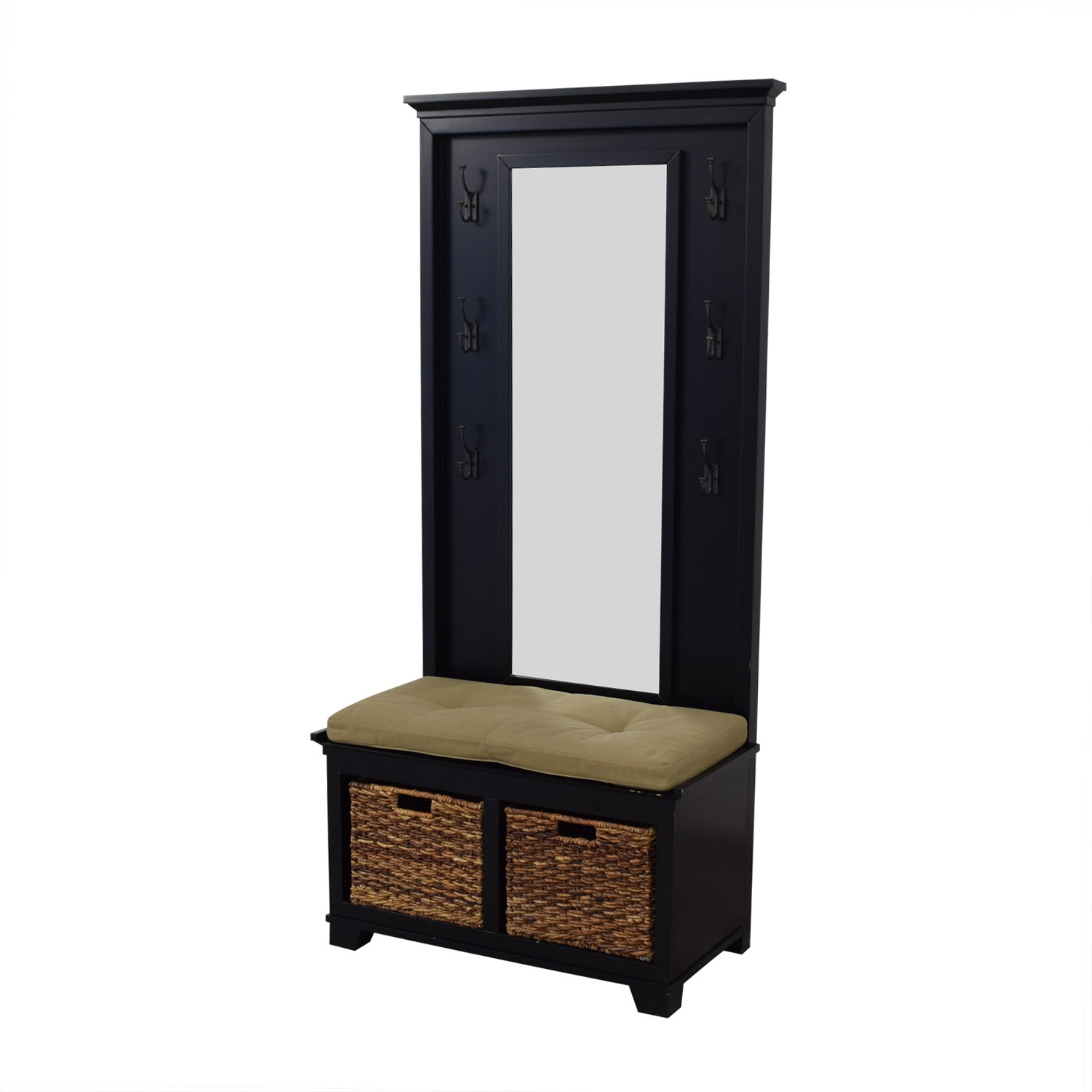 Crate & Barrel Crate & Barrel Windham Bench and Mirrored Panel for sale