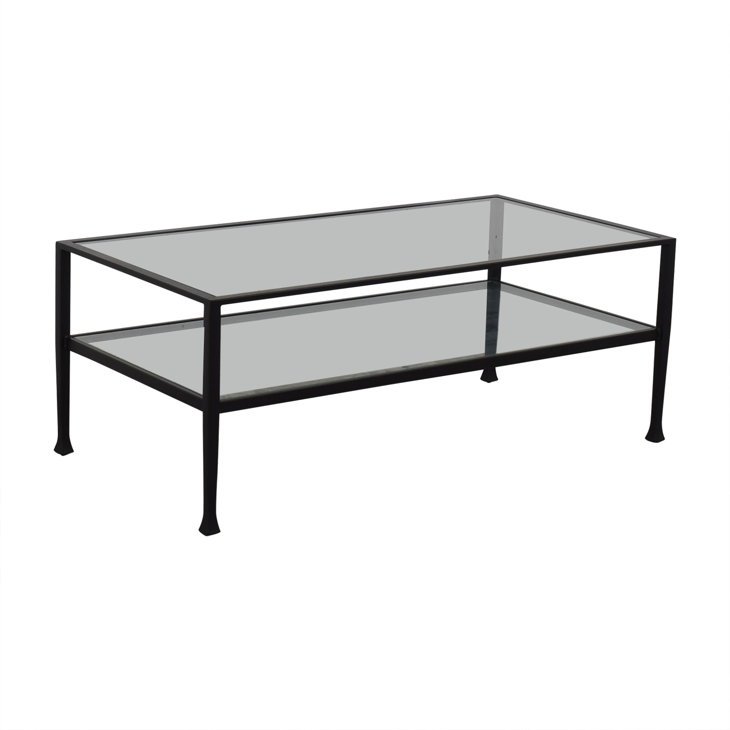 Pottery Barn Pottery Barn Tanner Metal & Glass Coffee Table Tables