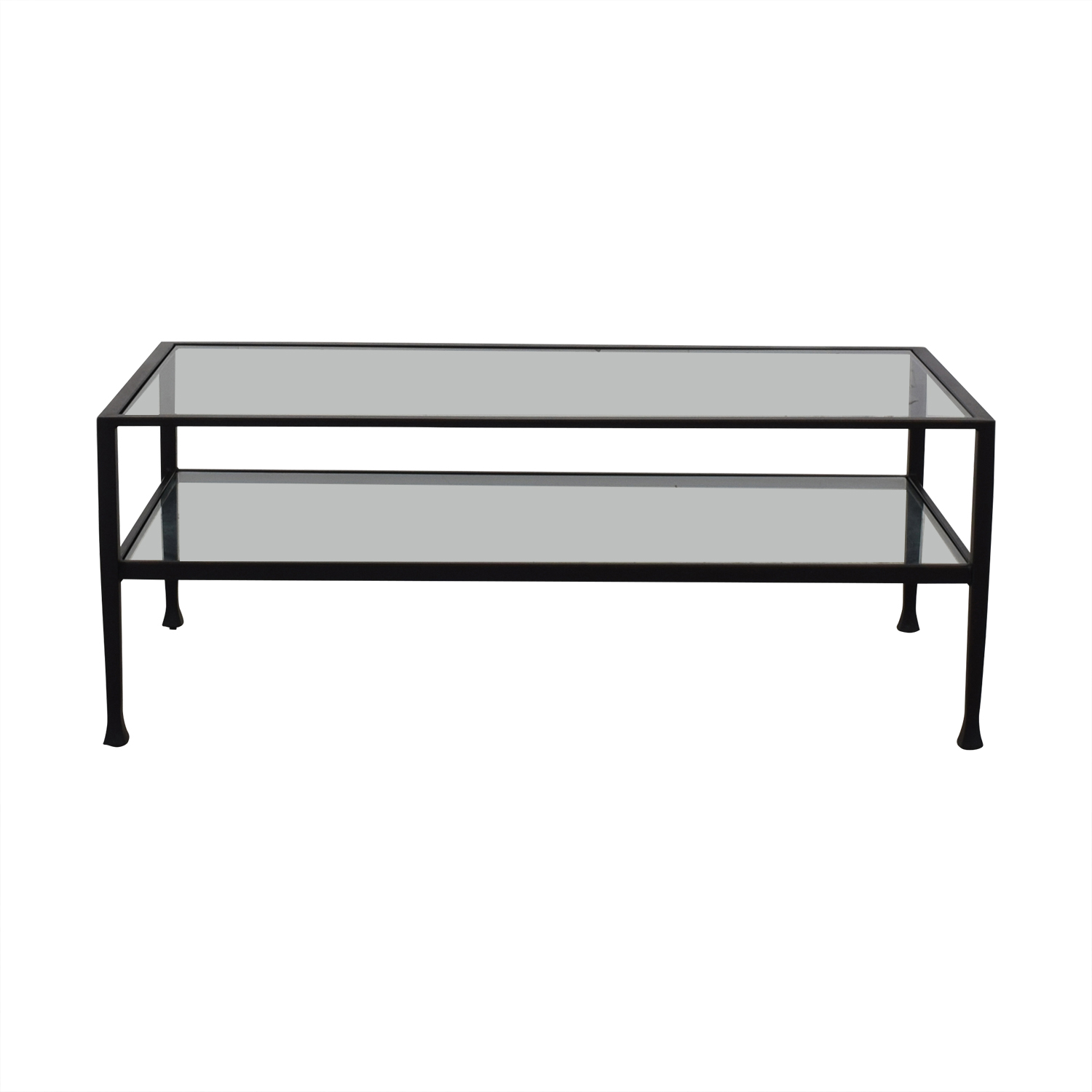 Pottery Barn Pottery Barn Tanner Metal & Glass Coffee Table dimensions