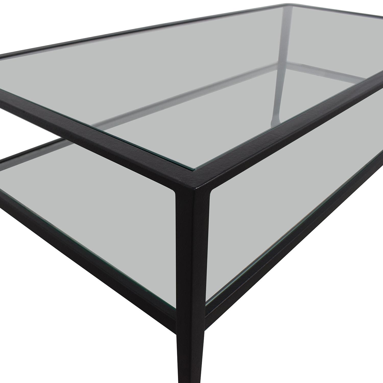 buy Pottery Barn Tanner Metal & Glass Coffee Table Pottery Barn Coffee Tables