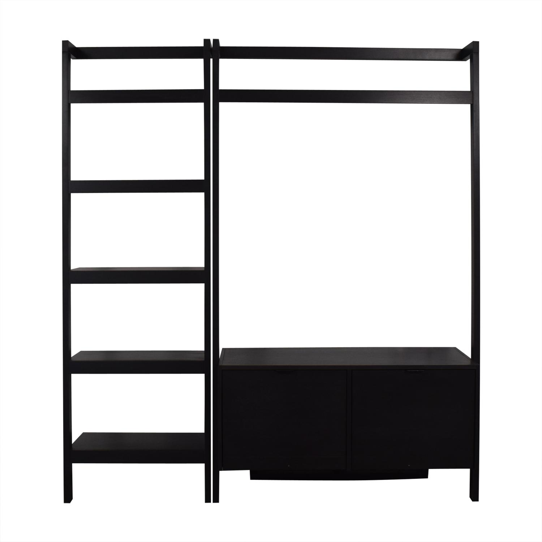 Crate & Barrel Crate & Barrel Sawyer Media Stand with Shelf discount
