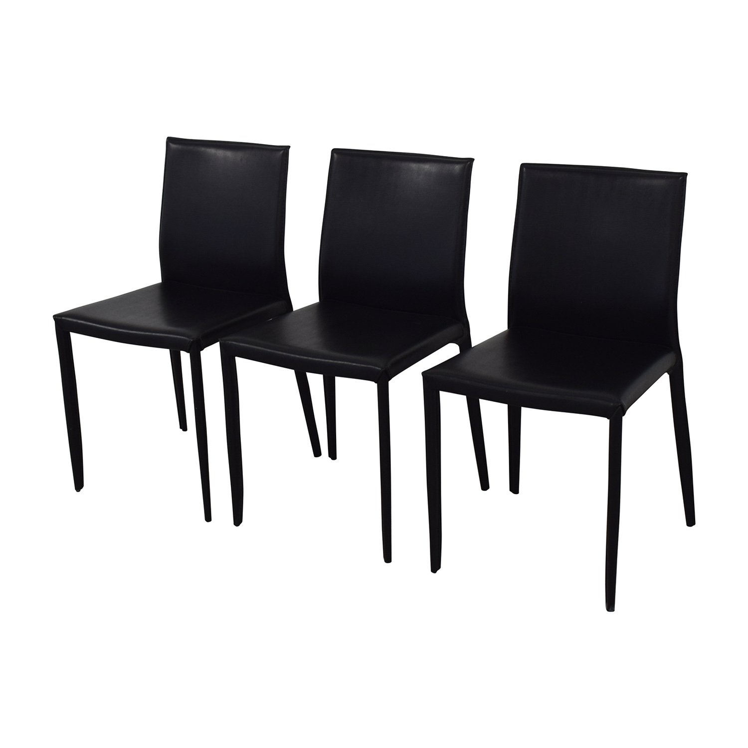 Room & Board Room & Board Modern Black Dining Chairs nj